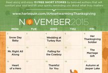 A HEARTWARMING THANKSGIVING / A Harlequin Heartwarming month long event featuring 13 heartwarming, Thanksgiving themed, free online romantic short stories, a book tour with incredible giveaways and so much more!