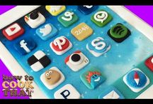 Tartas Social Media / Dulces y recetas con iconos de redes sociales: instagram, facebook, twitter, emoji, whatsaap