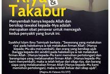 Riya, Sumah, Takabur dalam Islam