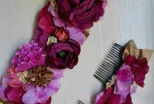 Tocados y cinturones florales