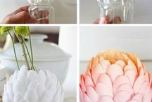 floreros de cucharas plasticas