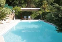 Couples retreat, South of France / Maison Bleue a perfect holiday apartment in a private villa with pool. Lovely views. Close to Cannes. Easy reach of beaches of Mandelieu La Napoule