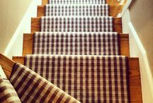 Striped Stair Runners / https://carpetworkroom.com Address: 39 Highland Circle, Needham MA 02494 Phone: (781) 844-4912 Email: info@thecarpetworkroom.com / by The Carpet Workroom