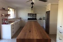Kitchens - benchtops, tables, islands, shelves