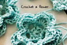 Crochet flowers DIY