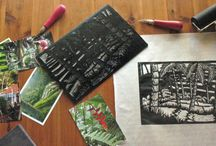 Art Retreat Bali / Every January  I run a linocut retreat in Ubud, Bali 7 nights of making linocuts and immersing yourself in art and culture. Check out www.ubudartworkshops.com for more information