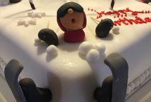 Snowboard Cake