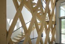 Bois d'ingénierie  ∞ Engineered Wood - Détail ∞ Detail / Projets de TRAME - Détail d'assemblage de pièce de bois d'ingénierie et de pièces de quincaillerie - Attachment system of engineered wood structure and hardware parts.