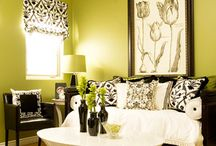 Black, green, and white room.  / by Roxanne Becker