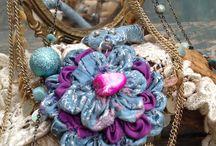 Magic autumm / My last experimentation with fabrics becoming art...