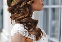 Long hairstyle for  brides