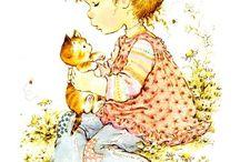 Children with animals