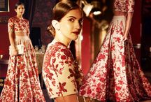 SABYASACHI BRIDAL COLLECTION 2014 / In love with the palette of colors like vintage rose and mint that Sabya has being using in his collections for a while now. Such a refreshing change from traditional hues that go so well with the rich detailing and embroidery work done on these exquisite pieces. Did you also love his 'Ferozabad' collection that flagged off the India Couture Week 2014? In case you missed it, his latest collection showcased a Parisian vintage look with a hint of oriental fashion as well.