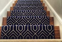 Geometric Stair Runners/Rugs / https://carpetworkroom.com Address: 39 Highland Circle, Needham MA 02494 Phone: (781) 844-4912 Email: info@thecarpetworkroom.com