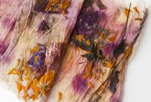 flower dyed fabric