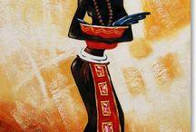 peinture africaine / Collection unique de tableaux peints dédiées à l'Afrique. Décoration ethnique. Importer l'Afrique dans sa décoration intérieur ne pas l'oublier.
