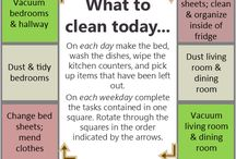 house cleaning schedule / by Lisa Lacher