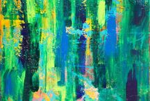 Abstract Art mainly green! / Abstract art with green being the predominant color.