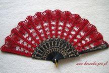 Crochet fans