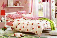 Bed sheet & Bed cover bahan Katun Taiwan