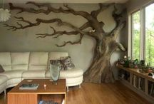 Interior Decorating / Rustic, cheap, off the wall decoratiing