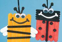 Έντομα φτεροκοπούν...- Insects & bugs / Κατασκευές με έντομα- insect crafting / by Kinderella (Elena Makri)