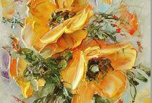 Картины оранжевые