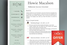 Professional Resume Templates / Professional resume templates that are fun and easy to edit in MS Word. Quickly transform your old CV into a modern one and get landed! avatadesigns.etsy.com