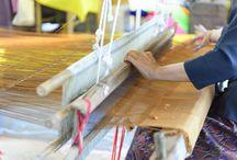 ダンボールで手織り機