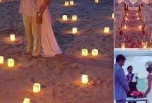 Wedding for two. Renewing our vows.  / A beach, the two of us and nothing else.