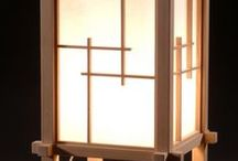 Japanese Wooden Lamps