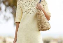 Вязание со схемами - платья