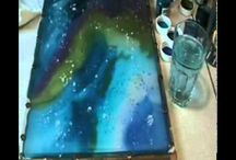 Malerier, silkemaling