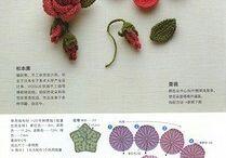 вязание цветы