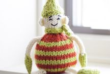 Tiny Elf Mischief / Our Tiny Elf is getting into trouble this holiday season! Knit yourself a Tiny Elf using our free pattern and Spud & Chloe yarn for your chance to win a yarny prize in our Ravelry group!