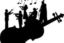 音楽シルエット