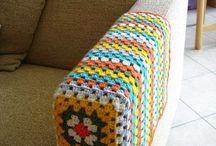 crochet sofá