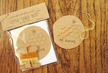 Sander + Rye / DIY embroidery card kits from sanderandrye on Etsy!