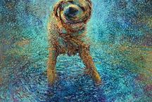 Paintings of Dogs / Lovely detailed imaginative paintings of dogs. I look for good use of colour, design and imagination.