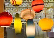 Blown glass decor / On the hunt for an affordable, beautiful light fixture for the foyer / by Carol Schiller