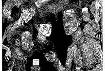 Linocut illustrations / Rasputin - Linocut illustration