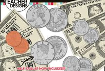 Money Clip Art / Thank you for visiting! The 3AM Teacher Clip Art original illustrations by Michelle Tsivgadellis. Custom, hand-drawn clip art for teachers, crafters and TPT sellers.  Commercial use okay {restrictions apply}. Visit my complete terms of use on my website by clicking the link here:  http://www.3amteacher.com/clipart-terms-of-use.html