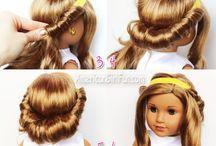 Taming doll hair