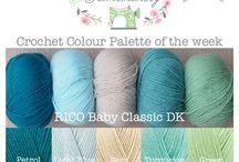 Crochet colour palette / Wool combinations