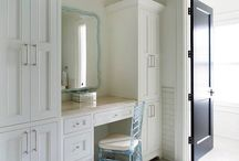 Built in dressing table
