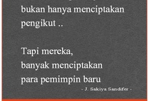Kata bijak (Quotes) / by Indonesia Pin!