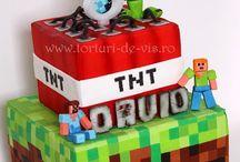 Minecraft cakes I wish  I am gonna eat
