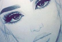 Kız çizimleri