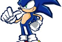 Sonic Battle / Official art of Sonic in various poses from Sonic Battle.  More info on the spin off Sonic the Hedgehog games at http://sonicscene.net/sonic-games/spin-off-sonic-games-on-consoles