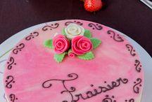 Fraisier pâtissier ( et sa version de Pâques) - Macaronette et cie